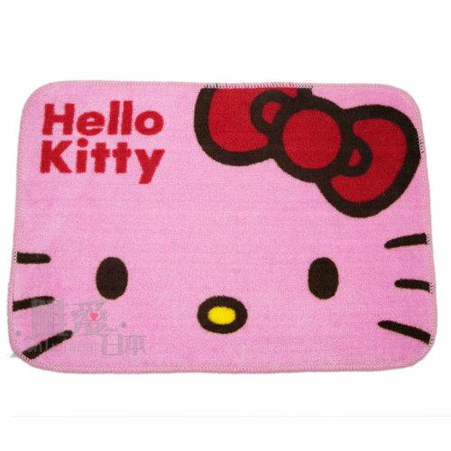 【真愛日本】12110600002 短毛地墊-大頭 三麗鷗 Hello Kitty 凱蒂貓 腳踏墊 寢具用品 正品