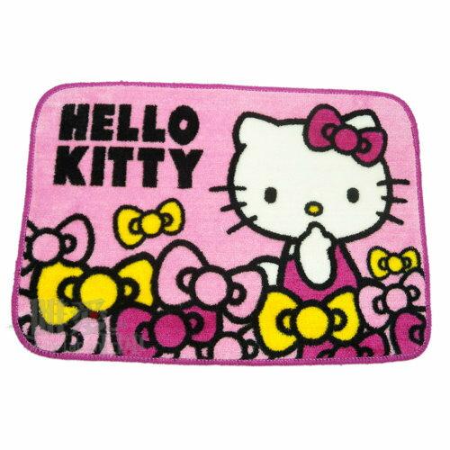 【真愛日本】12110600003 短毛地墊-蝴蝶結 三麗鷗 Hello Kitty 凱蒂貓 腳踏墊 寢具用品 正品