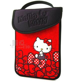 【唯愛日本】12112800001 平板電腦保護套-蝴蝶結7吋 三麗鷗 Hello Kitty 凱蒂貓 防震套 防塵套