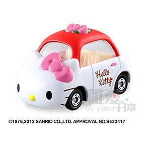 【真愛日本】13031300025 TOMY車-凱蒂貓小汽車 三麗鷗 Hello Kitty 凱蒂貓 模型車 迴力車