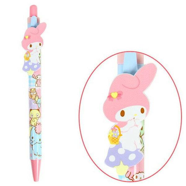 【唯愛日本】14053000008 自動鉛筆-MM粉香菇粉 三麗鷗家族 Melody 美樂蒂 自動筆