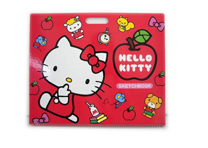 【唯愛日本】14060100006 剪貼素描本-臘畫版 三麗鷗 Hello Kitty 凱蒂貓 繪畫本 空白本