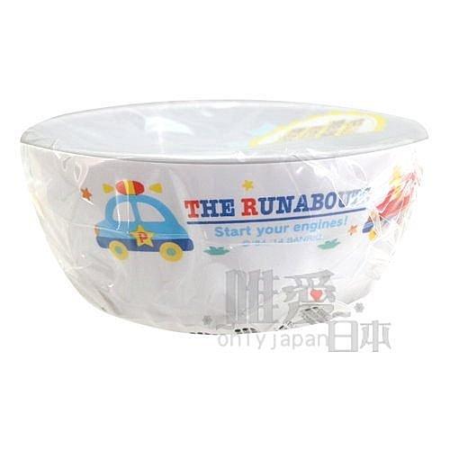 【唯愛日本】14062500050 幼兒湯碗-工程車白 三麗鷗家族 Hello Kitty RB車車 嘟嘟車 食器 碗盤 .