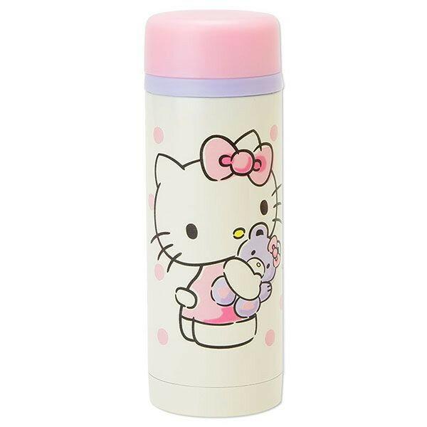 【唯愛日本】14071200004 不鏽鋼隨手瓶230ml-抱熊點點 三麗鷗 Hello Kitty 凱蒂貓 隨身水瓶 水壺