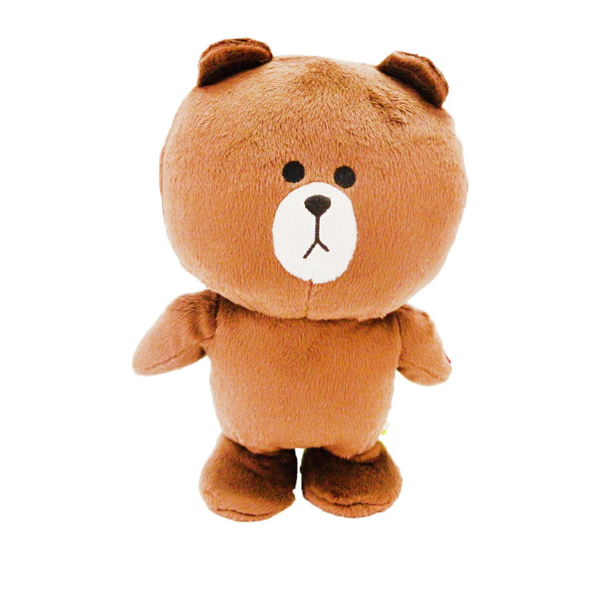 【唯愛日本】14090500033 絨毛走路娃-熊大 LINE公仔 饅頭人兔子熊大 玩偶 娃娃