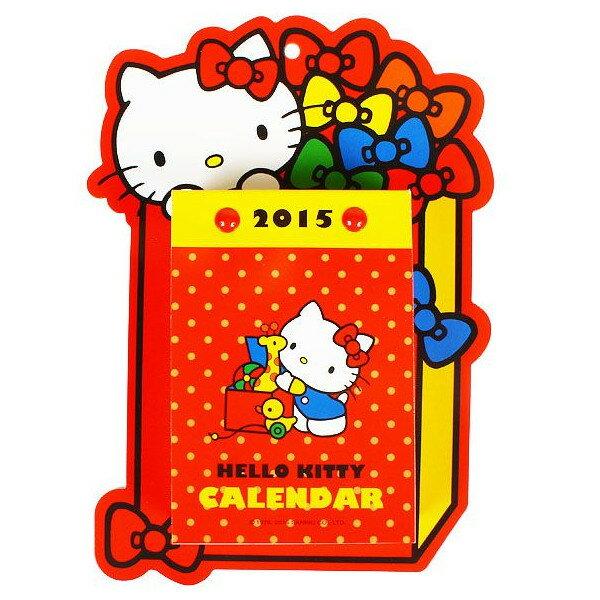 【唯愛日本】14091000085 KT造型掛曆-玩具盒紅 三麗鷗 Hello Kitty 凱蒂貓 日曆