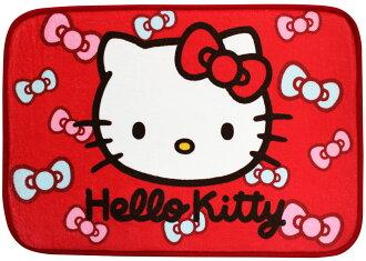 【真愛日本】14092500002 蝴蝶結絨毛地墊-紅 三麗鷗 Hello Kitty 凱蒂貓 墊子