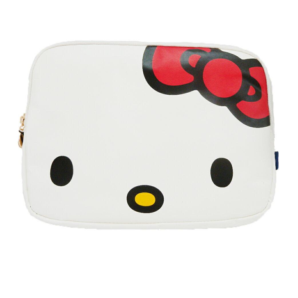 【唯愛日本】14092600014 聯名平板電腦包-紅結白 三麗鷗 Hello Kitty 凱蒂貓 包包 筆電包