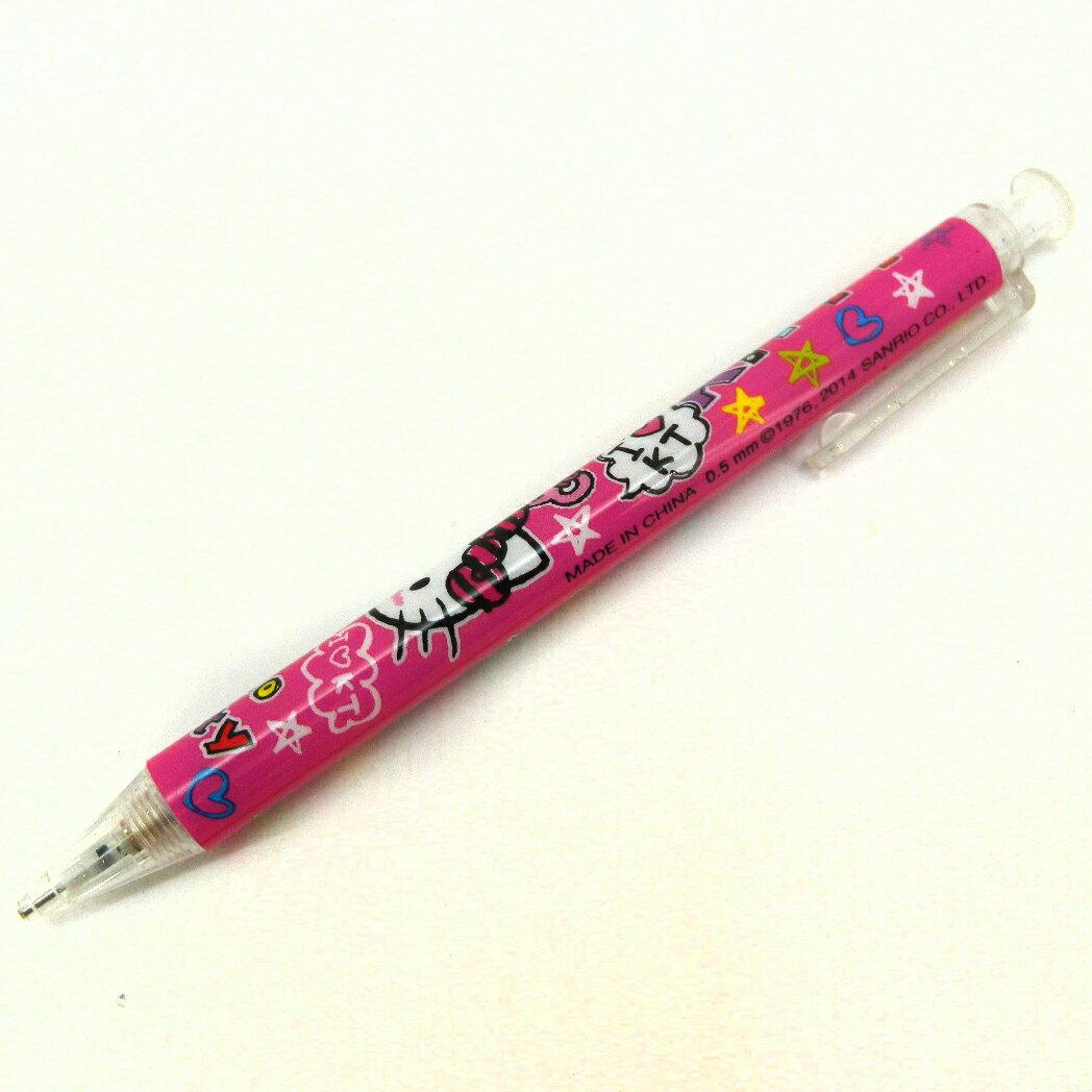【唯愛日本】14100800013 自動鉛筆-星星字母桃 三麗鷗 Hello Kitty 凱蒂貓 自動比 文具