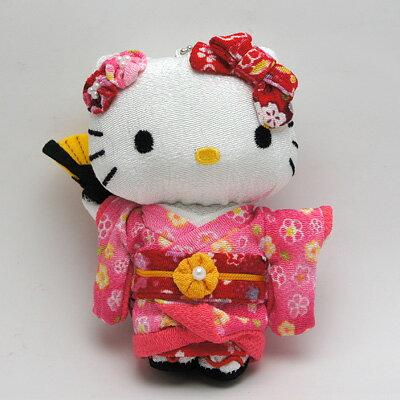 【唯愛日本】14101100037 日本人形和服娃S鎖圈-粉 三麗鷗 Hello Kitty 凱蒂貓 鑰匙圈 飾品 吊飾