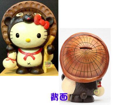 【唯愛日本】14101100050 開運陶瓷存錢筒-狸貓 三麗鷗 Hello Kitty 凱蒂貓 撲滿 造型存錢筒