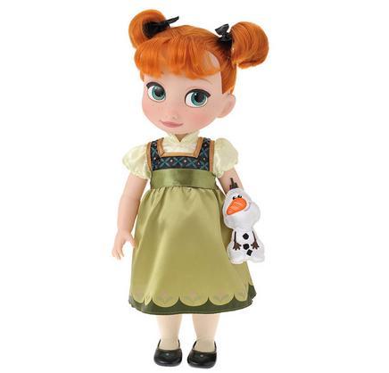 【真愛日本】14101100056 日本專賣店限定Q版公主-安娜 迪士尼 冰雪奇緣 Frozen  娃娃