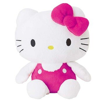 【唯愛日本】14101400013 絨毛娃7吋-吊帶褲桃 三麗鷗 Hello Kitty 凱蒂貓 娃娃 玩偶