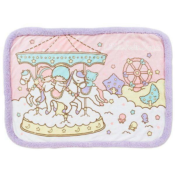 【唯愛日本】14101600012 柔毛滾邊毛毯-遊樂園70*100 三麗鷗家族 Kikilala 雙子星 毯子