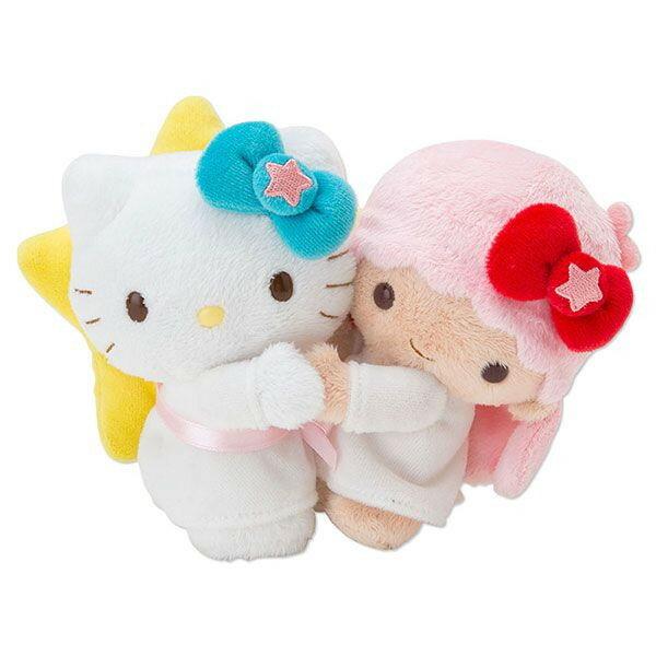 【真愛日本】14101700034 40th紀念對娃-KT擁抱TS 三麗鷗 Hello Kitty 凱蒂貓 娃娃 玩偶