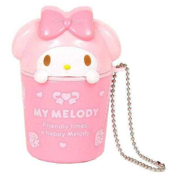 【唯愛日本】14101700040 造型小物收納盒鎖圈-粉 三麗鷗家族 Melody 美樂蒂 造型鑰匙圈 造型吊飾