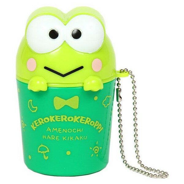 【唯愛日本】14101700041 造型小物收納盒鎖圈-綠 三麗鷗家族 Keroppi 大眼蛙 皮皮蛙 造型鑰匙圈