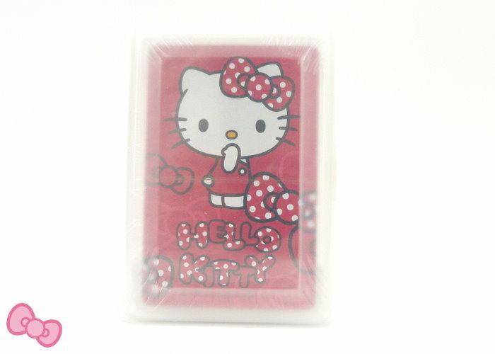 【真愛日本】14110700013 新潮撲克牌-KT多結紅 三麗鷗 Hello Kitty 凱蒂貓 撲克牌 文具
