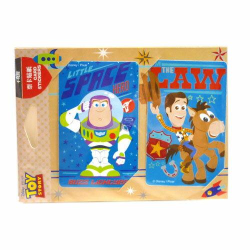 【真愛日本】14111000006 票卡貼-巴斯+胡迪卡通版 迪士尼 玩具總動員 怪獸電力公司 悠遊卡貼 公車卡貼