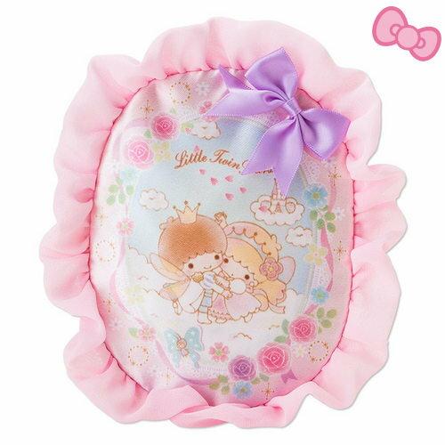 【唯愛日本】14111000036 緞面面紙化妝包-派對仙子 三麗鷗家族 Kikilala 雙子星 衛生紙 收納包