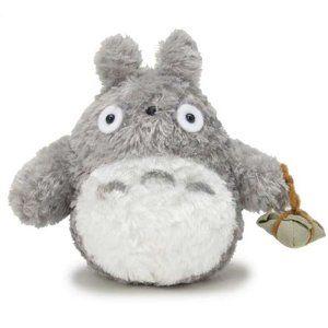 【真愛日本】14122600013 綿柔娃S-提棕葉龍貓灰 龍貓 TOTORO 豆豆龍 絨毛娃 娃娃 玩具