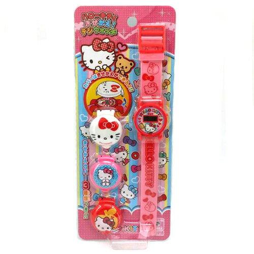 【唯愛日本】14122700003 兒童電子錶-可換錶蓋粉 三麗鷗 Hello Kitty 凱蒂貓  兒童電子錶 手錶 飾品