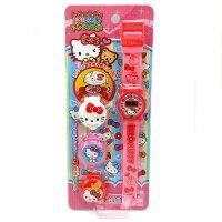兒童節禮物Children's Day到【唯愛日本】14122700003 兒童電子錶-可換錶蓋粉 三麗鷗 Hello Kitty 凱蒂貓  兒童電子錶 手錶 飾品