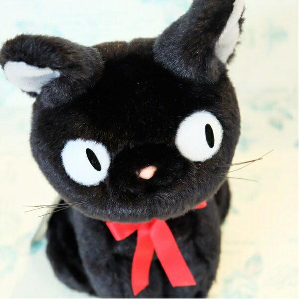 滿999輸碼折50【8SCA-3NVB-6JDU-9IIC】 14122700019經典黑貓坐姿絨毛娃S-jiji  魔女宅急便 黑貓 奇奇貓 真愛日本