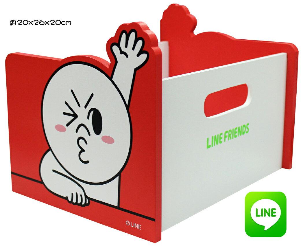 【唯愛日本】15010600002 手提置物架-饅頭人 LINE公仔 饅頭人兔子熊大 收納盒 正品