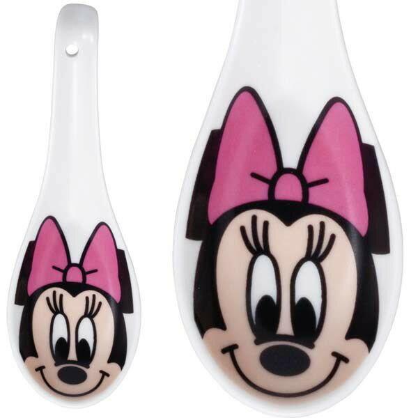 【唯愛日本】15010800015 角色陶瓷湯匙-米妮 迪士尼 米老鼠米奇 米妮 餐具 正品