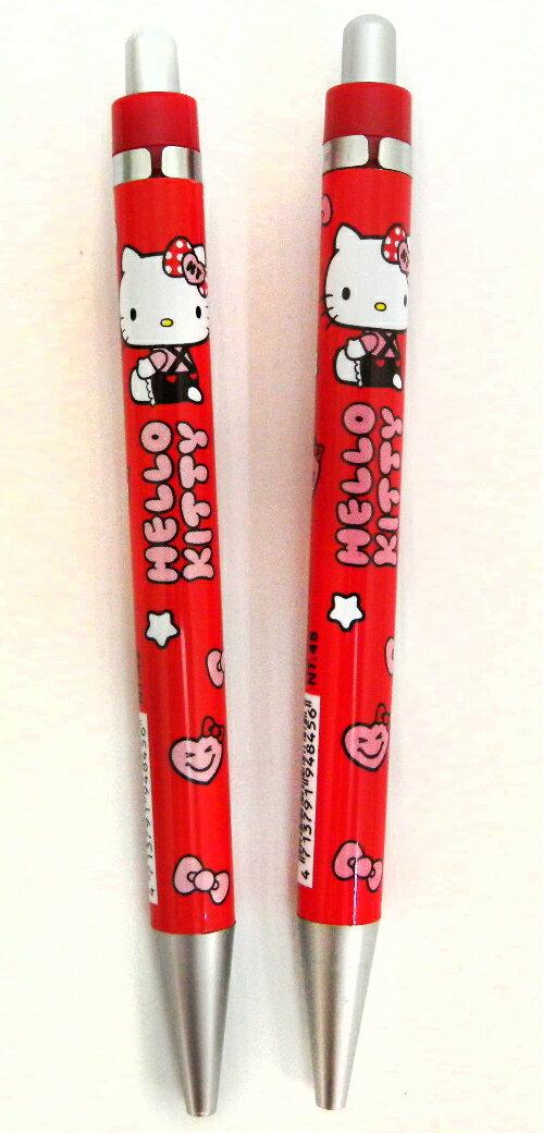 【唯愛日本】15011000005 2入銀夾胖自動鉛筆-紅 三麗鷗 Hello Kitty 凱蒂貓 自動筆 文具 正品