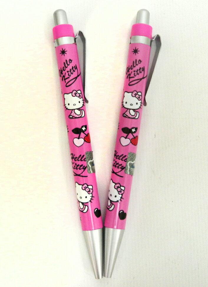 【唯愛日本】15011000006 2入銀夾胖自動鉛筆-桃 三麗鷗 Hello Kitty 凱蒂貓 文具 自動筆 正品