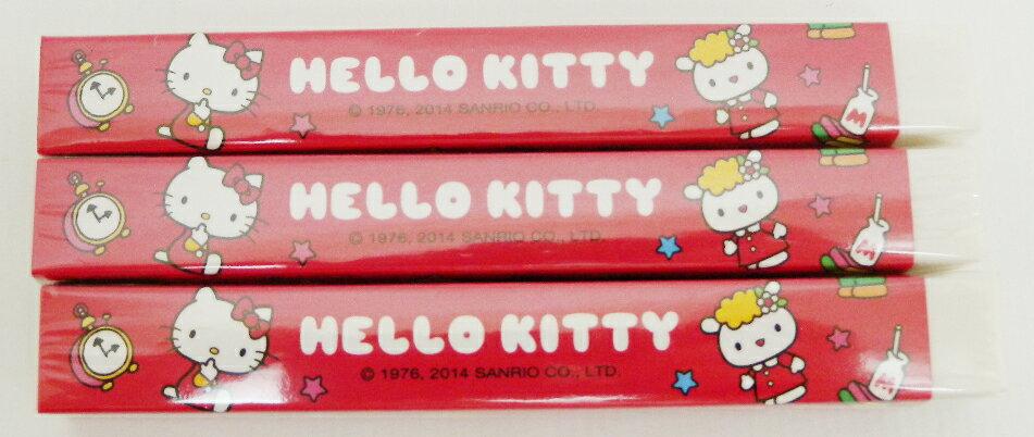 【唯愛日本】15011000008 3入新長條橡皮擦-紅 三麗鷗 Hello Kitty 凱蒂貓 文具 隨機出貨 正品