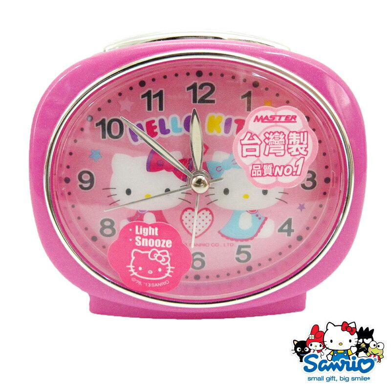 【唯愛日本】15013000018 橢圓鏡面鬧鐘-星星粉 三麗鷗 Hello Kitty 凱蒂貓 時鐘 居家用品 正品