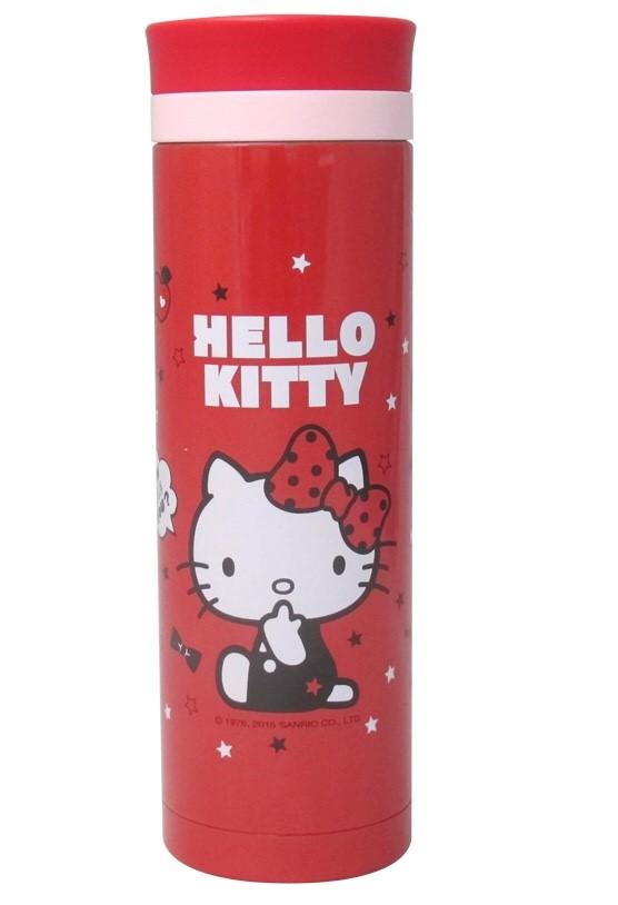 【唯愛日本】15021100004 真空保溫杯480ml-星星紅 三麗鷗 Hello Kitty 凱蒂貓 水瓶 水壺 正品