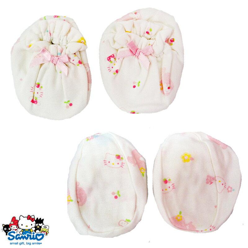 【唯愛日本】15021200007 KT印花腳套 三麗鷗 Hello Kitty 凱蒂貓 嬰兒用品 正品