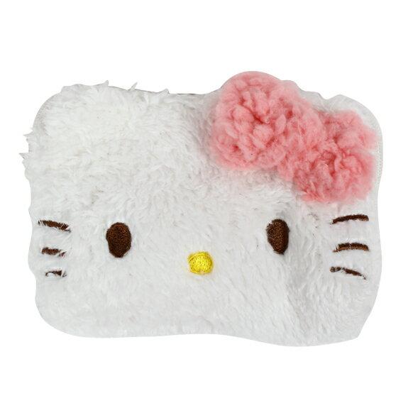 【唯愛日本】15022500010四方錢包-粉蝴蝶結白大臉 三麗鷗 Hello Kitty 凱蒂貓 收納包 正品 限量