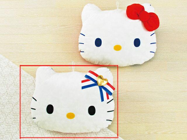 【真愛日本】15030300009 法國國旗抱枕-橫紋愛心結 三麗鷗 Hello Kitty 凱蒂貓 靠枕 枕頭 正品 日本景品 限量