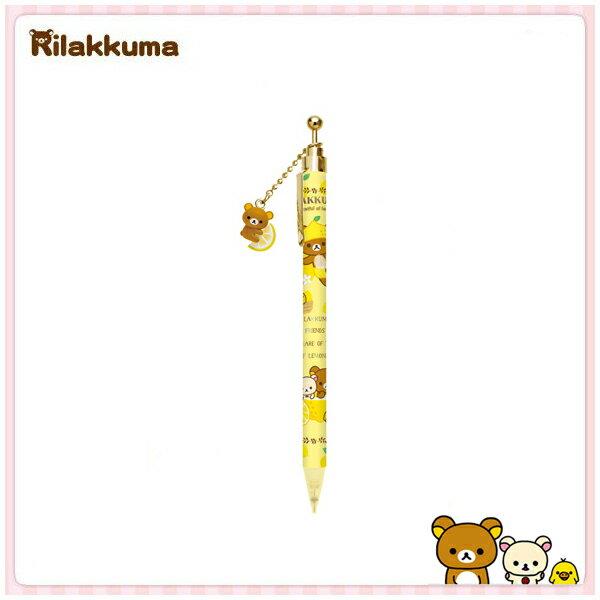 【真愛日本】15030600018 吊飾自動鉛筆-檸檬懶熊黃 SAN-X 懶熊 奶妹 奶熊 文具 書寫用具 自動筆 正品 限量