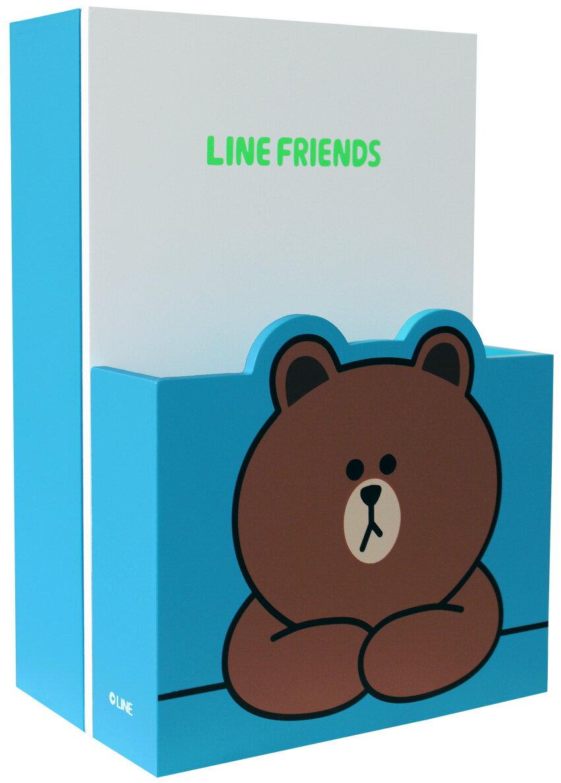【真愛日本】15031000005 造型信插鑰匙箱-熊大 LINE公仔 饅頭人兔子熊大 收納箱 擺飾 正品