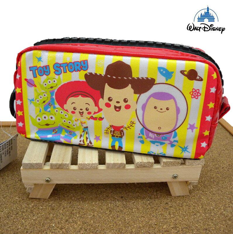 【真愛日本】15031200017 巨齒拉鍊長方筆袋-Q版人物 迪士尼 玩具總動員 TOY 文具 收納袋 收納包 正品