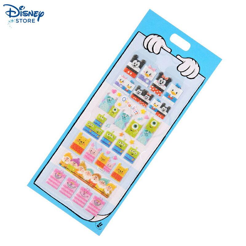 【真愛日本】15031200023 限定造型毛毛貼紙-DN方塊 迪士尼 米老鼠米奇 米妮 文具 正品 限量