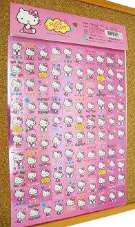 【真愛日本】15031400034 閃亮貼紙-粉 三麗鷗 Hello Kitty 凱蒂貓 文具 黏貼 正品