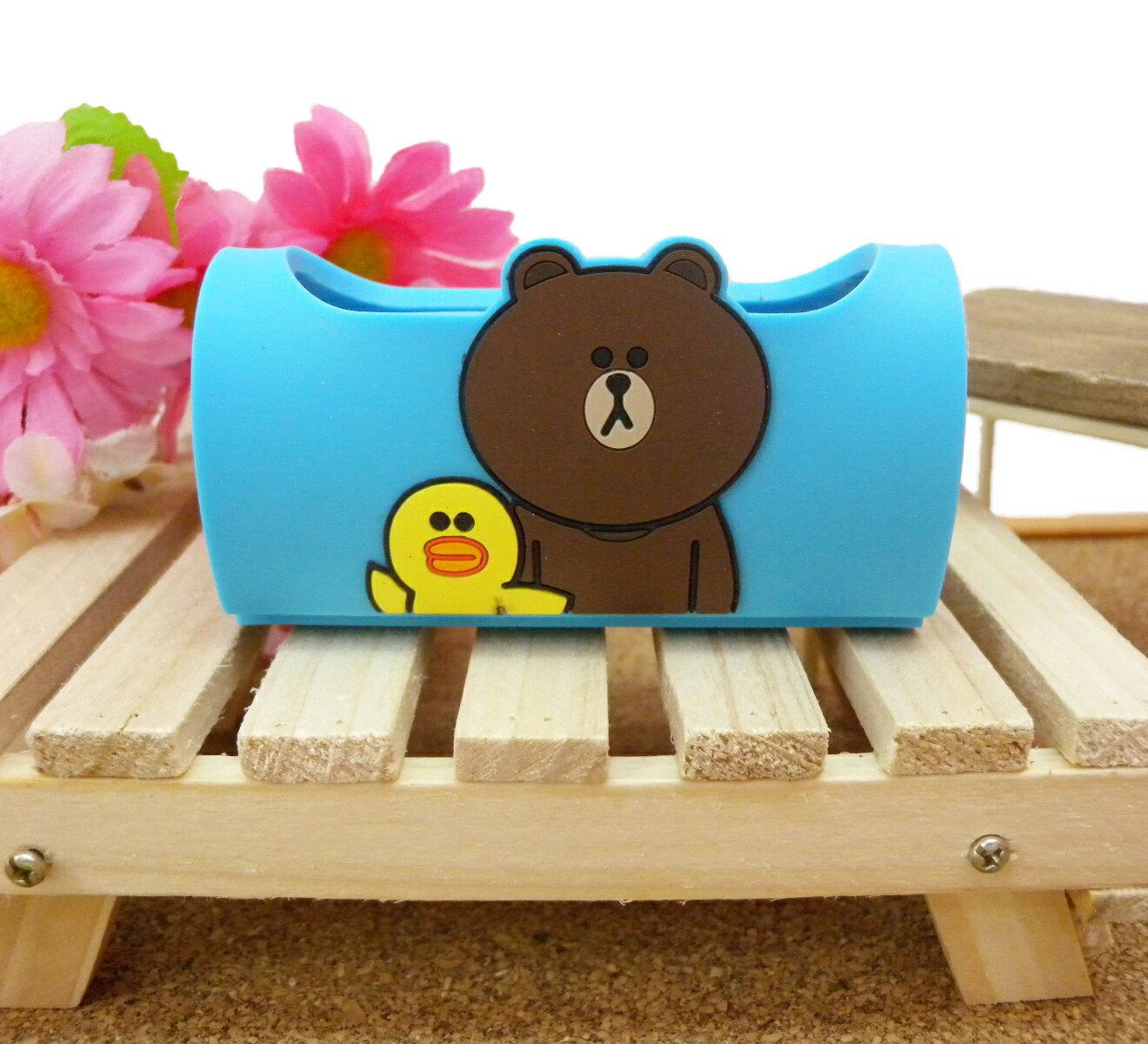 【真愛日本】15032500005 手機立架-熊大藍 LINE公仔 饅頭人兔子熊大 手機周邊 手機架 正品