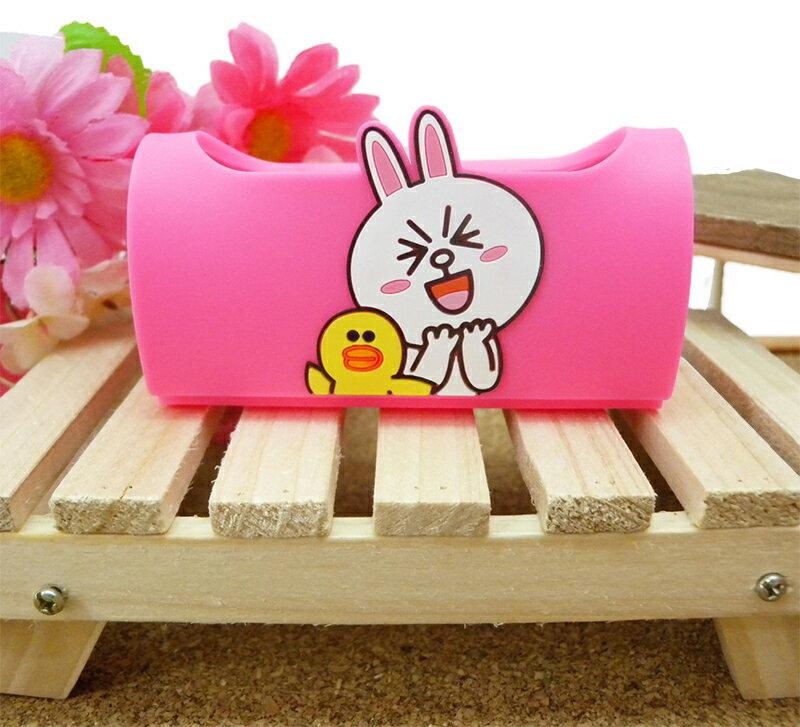 【真愛日本】15032500006 手機立架-兔兔粉 LINE公仔 饅頭人兔子熊大 手機周邊 手機架 正品