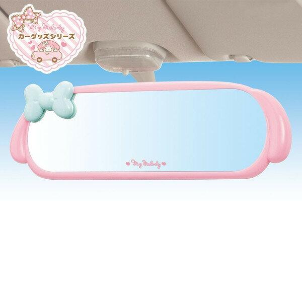 【真愛日本】15032500028 造型後視鏡-粉藍結 三麗鷗家族 Melody 美樂蒂 汽車用品 鏡子 正品 限量