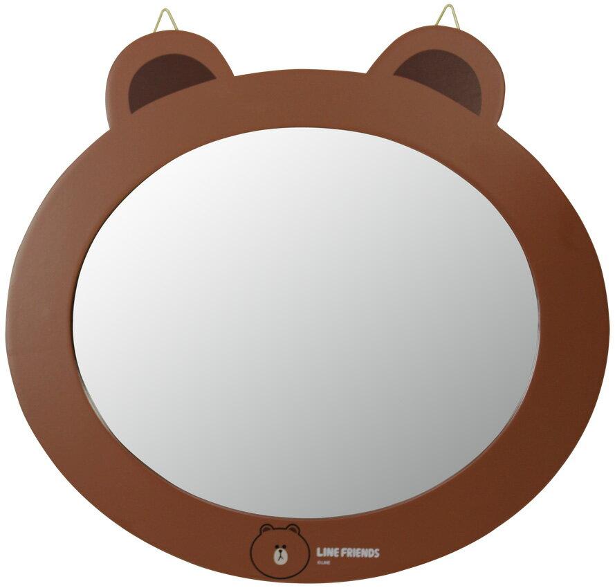 【真愛日本】15040100018 頭型鏡-熊大 LINE公仔 饅頭人兔子熊大 掛鏡 鏡子 鏡面