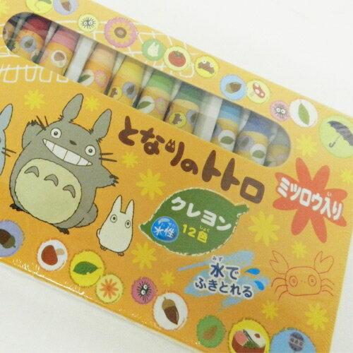 【真愛日本】1504170000712色盒裝蠟筆-龍貓3匹黃 龍貓 TOTORO 豆豆龍 文具 繪圖用具 正品 限量 預購