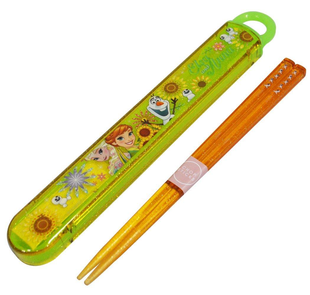 【真愛日本】15041800021 筷子附盒-艾莎安娜春季 迪士尼 冰雪奇緣 Frozen 餐具 正品 限量 預購
