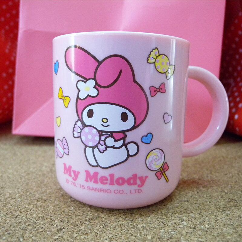 【真愛日本】15042100044 不鏽鋼單耳杯-MM糖果粉 三麗鷗家族 Melody 美樂蒂 杯子 水杯 正品 限量